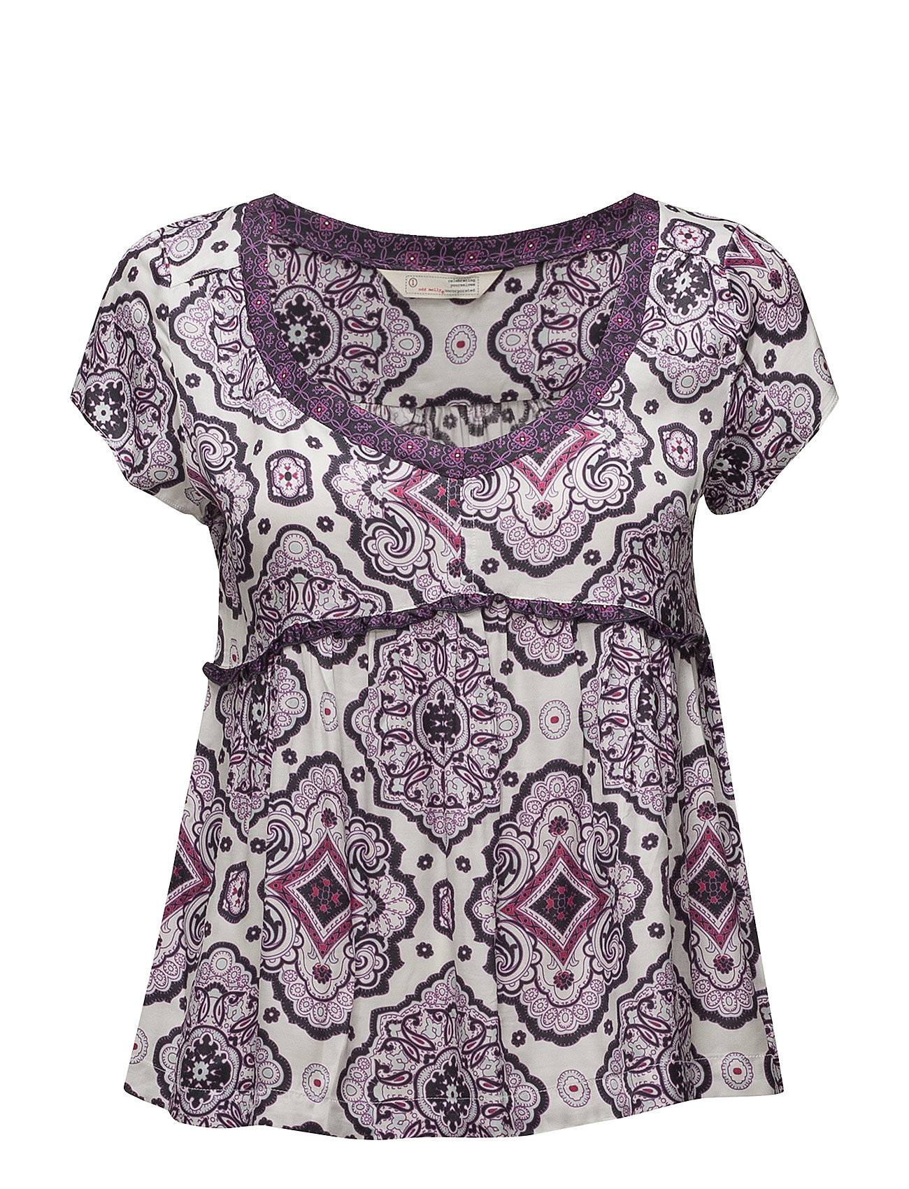 Image of ODD MOLLY Free Floating S/S Blouse T-shirts & Tops Short-sleeved Liila ODD MOLLY