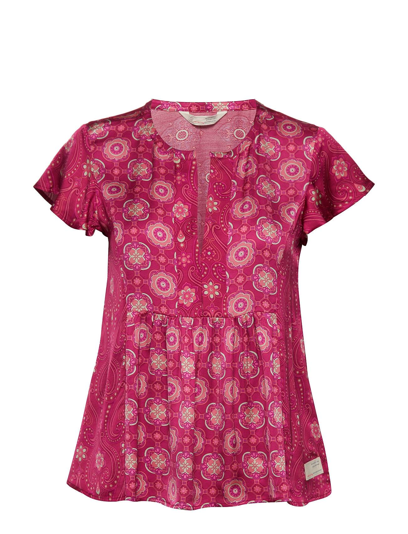Image of ODD MOLLY Funky Belle Blouse Blouses Short-sleeved Vaaleanpunainen ODD MOLLY