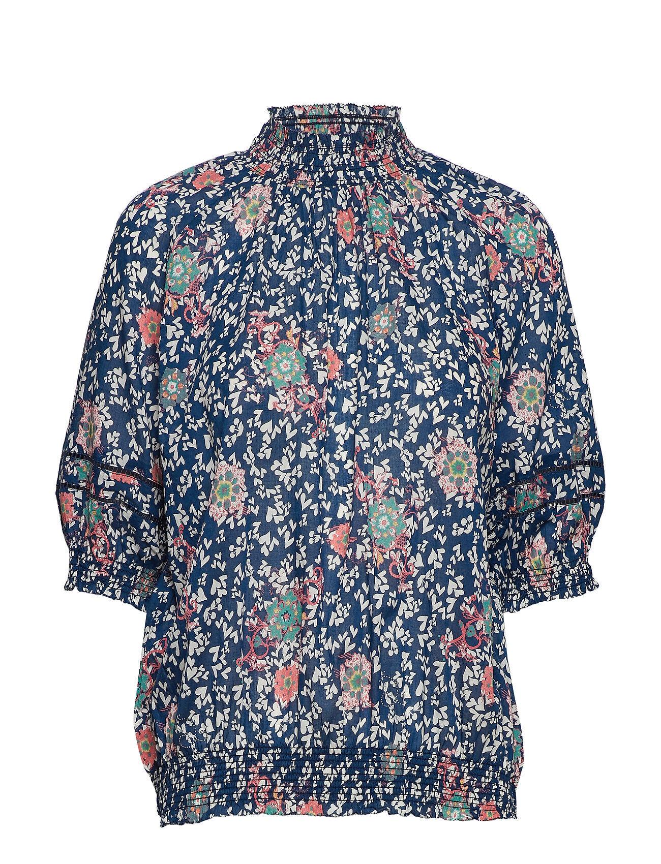 Image of ODD MOLLY Lush Shake S/S Blouse Blouses Short-sleeved Monivärinen/Kuvioitu ODD MOLLY
