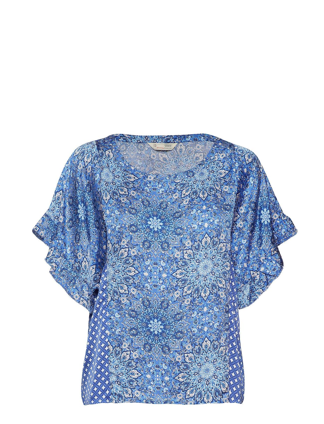 Image of ODD MOLLY Empowher Blouse Blouses Short-sleeved Sininen ODD MOLLY