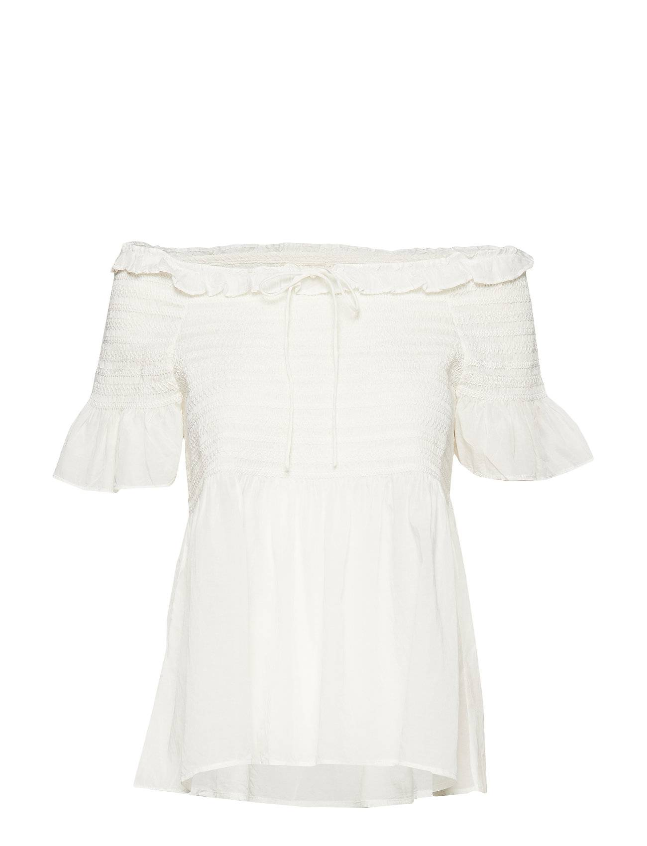 Image of ODD MOLLY Majestic Blouse Blouses Short-sleeved Valkoinen ODD MOLLY