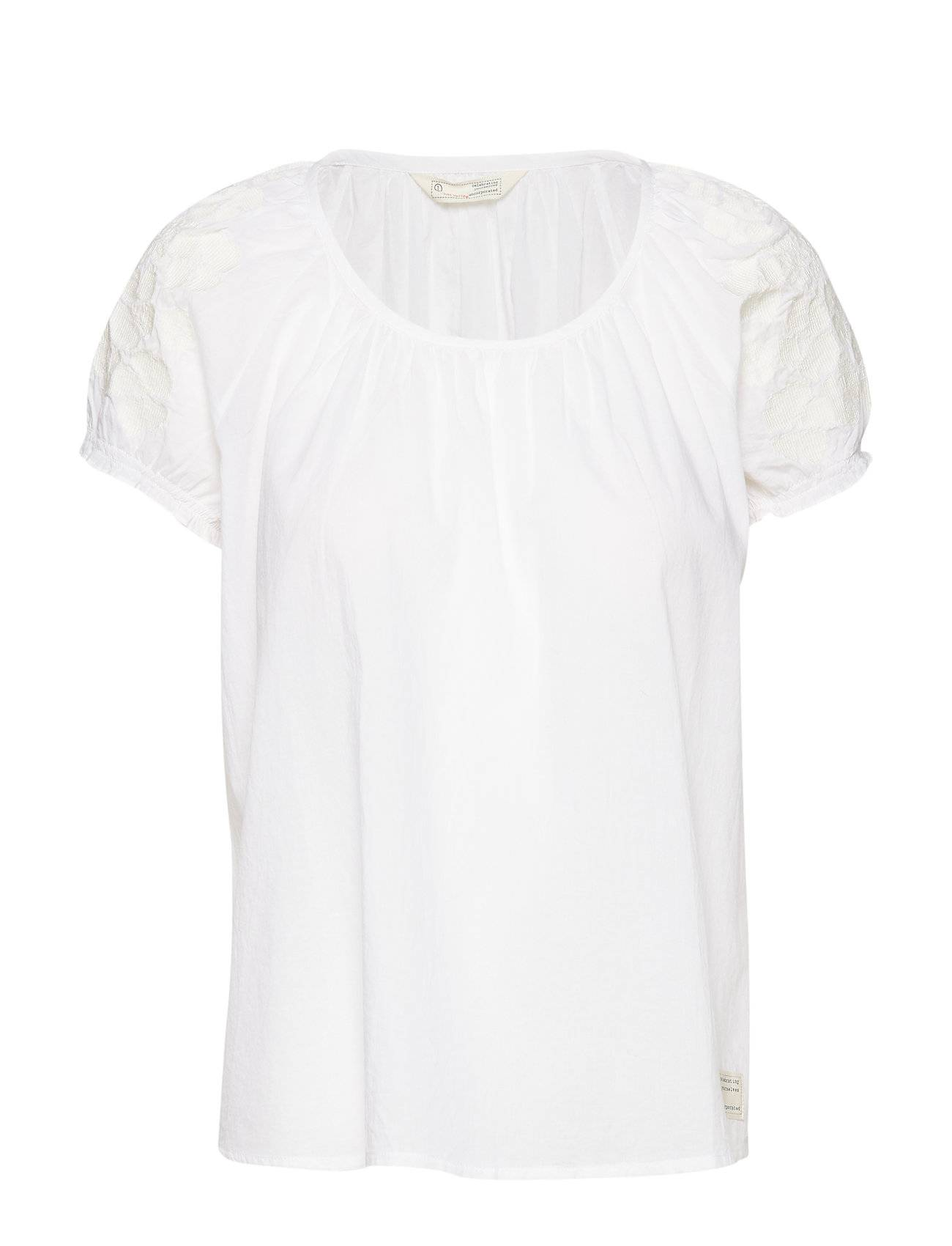 Image of ODD MOLLY Wooo-Hooo Blouse Blouses Short-sleeved Valkoinen ODD MOLLY