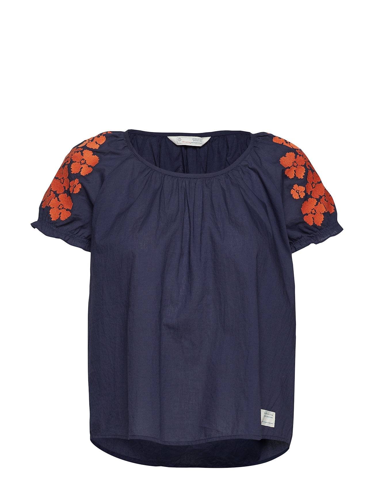 Image of ODD MOLLY Wooo-Hooo Blouse Blouses Short-sleeved Sininen ODD MOLLY