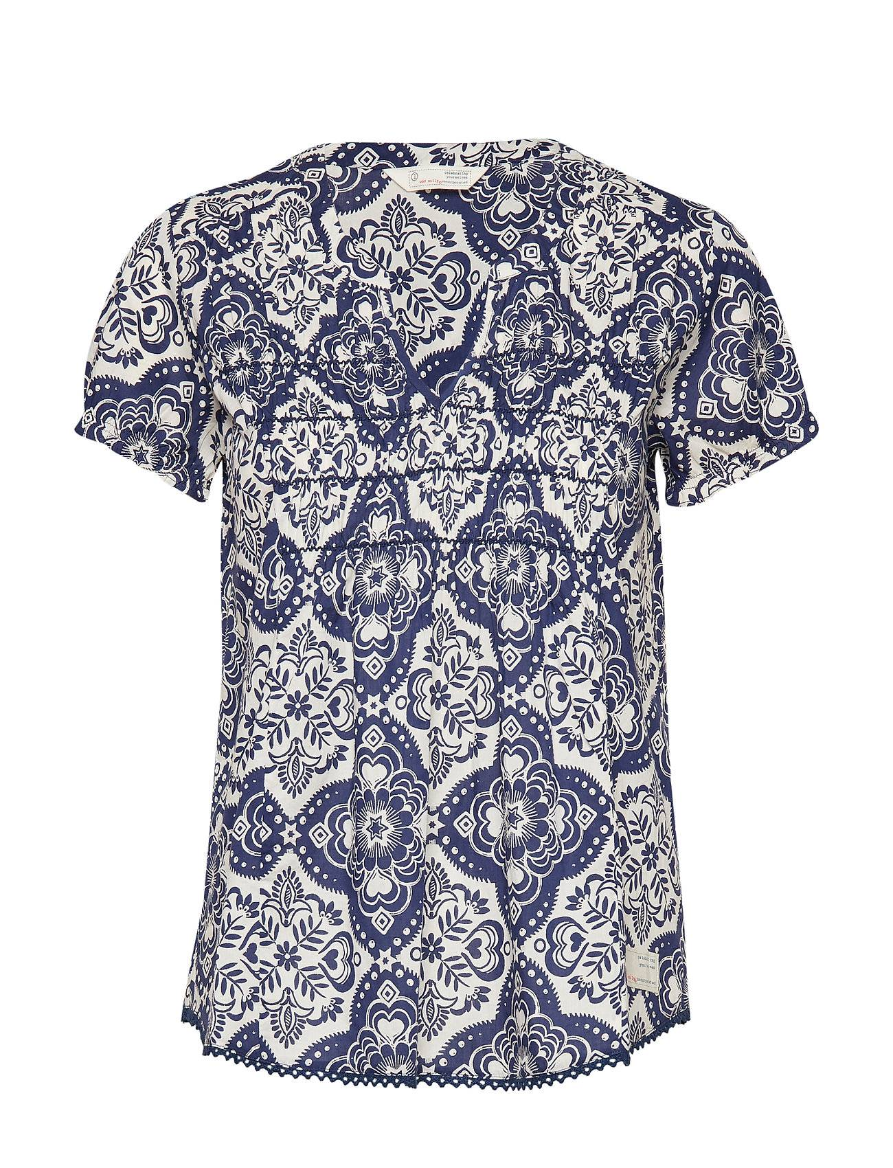 Image of ODD MOLLY No Limit Blouse Blouses Short-sleeved Sininen ODD MOLLY