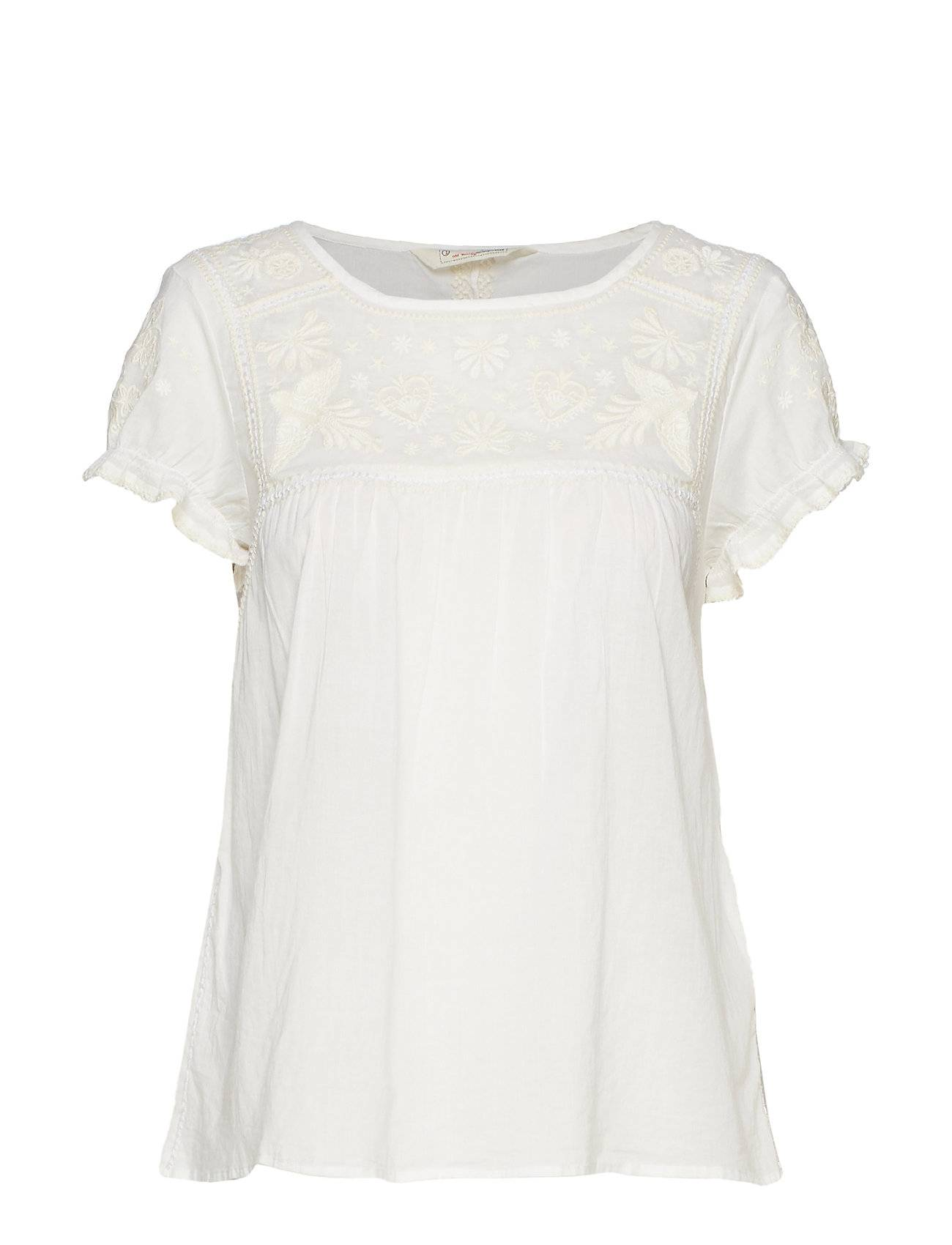 Image of ODD MOLLY No Doubt Blouse Blouses Short-sleeved Valkoinen ODD MOLLY