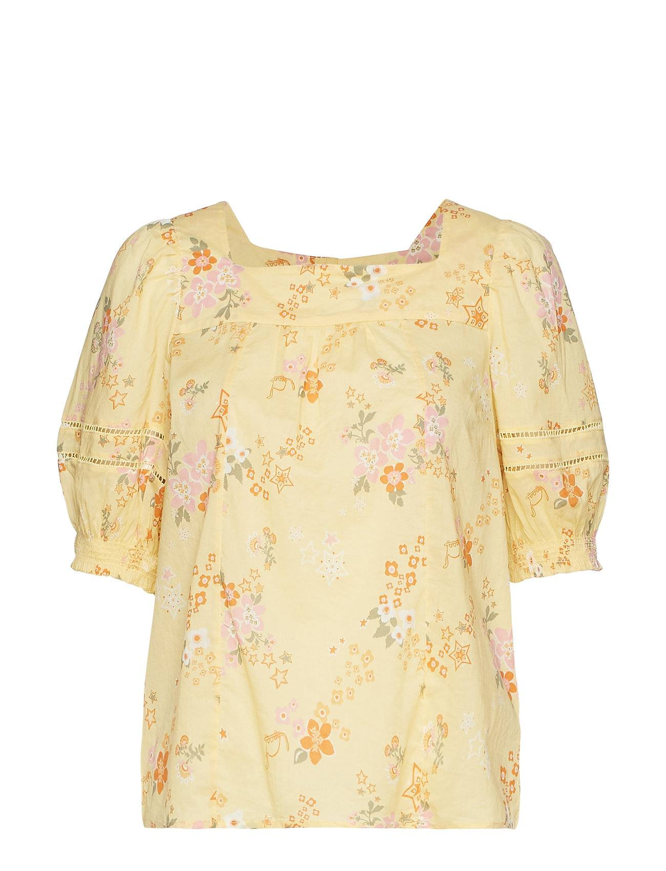 Image of ODD MOLLY Marvelously Free Blouse Blouses Short-sleeved Keltainen ODD MOLLY