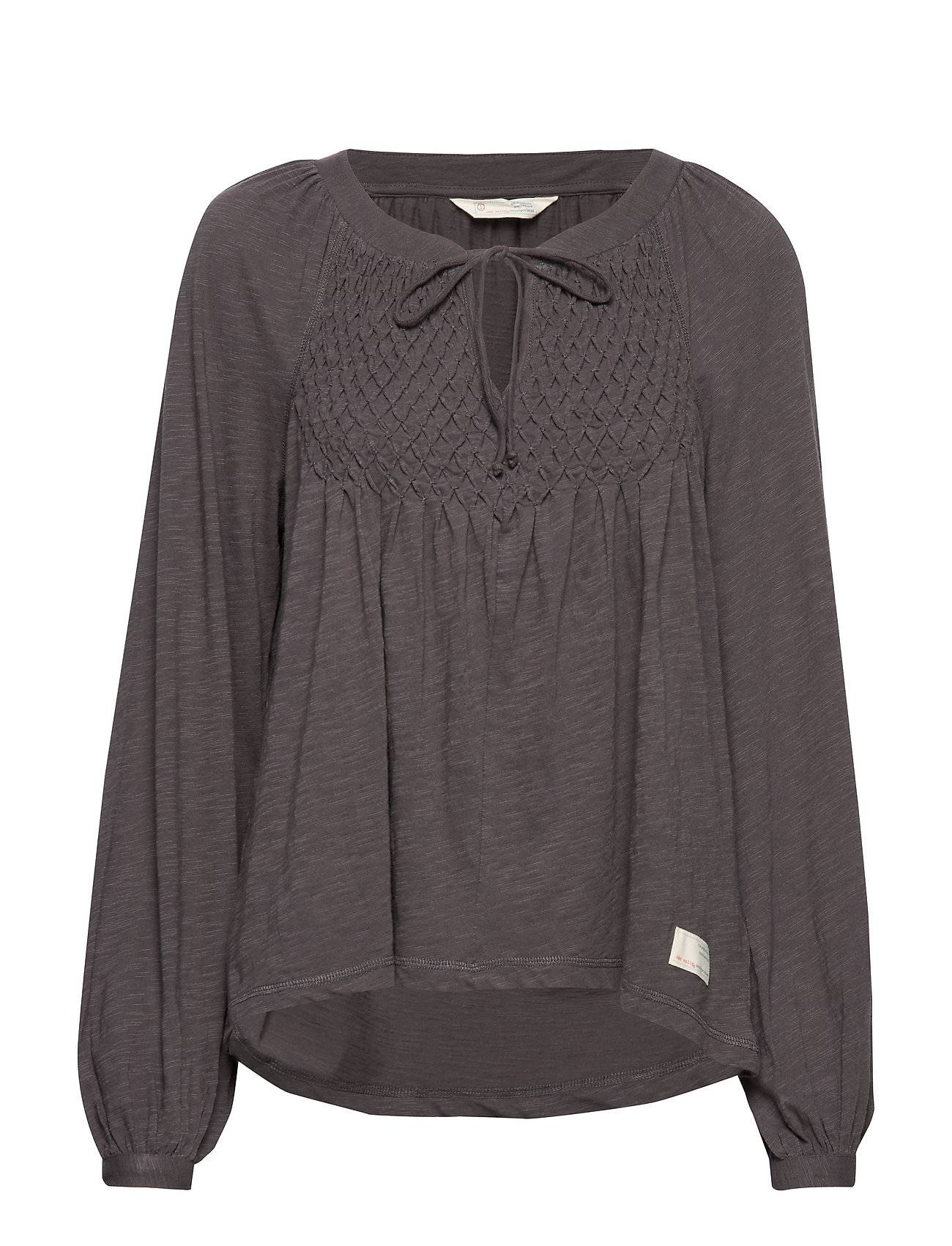 Image of ODD MOLLY I Call It Life Blouse T-shirts & Tops Long-sleeved Harmaa ODD MOLLY