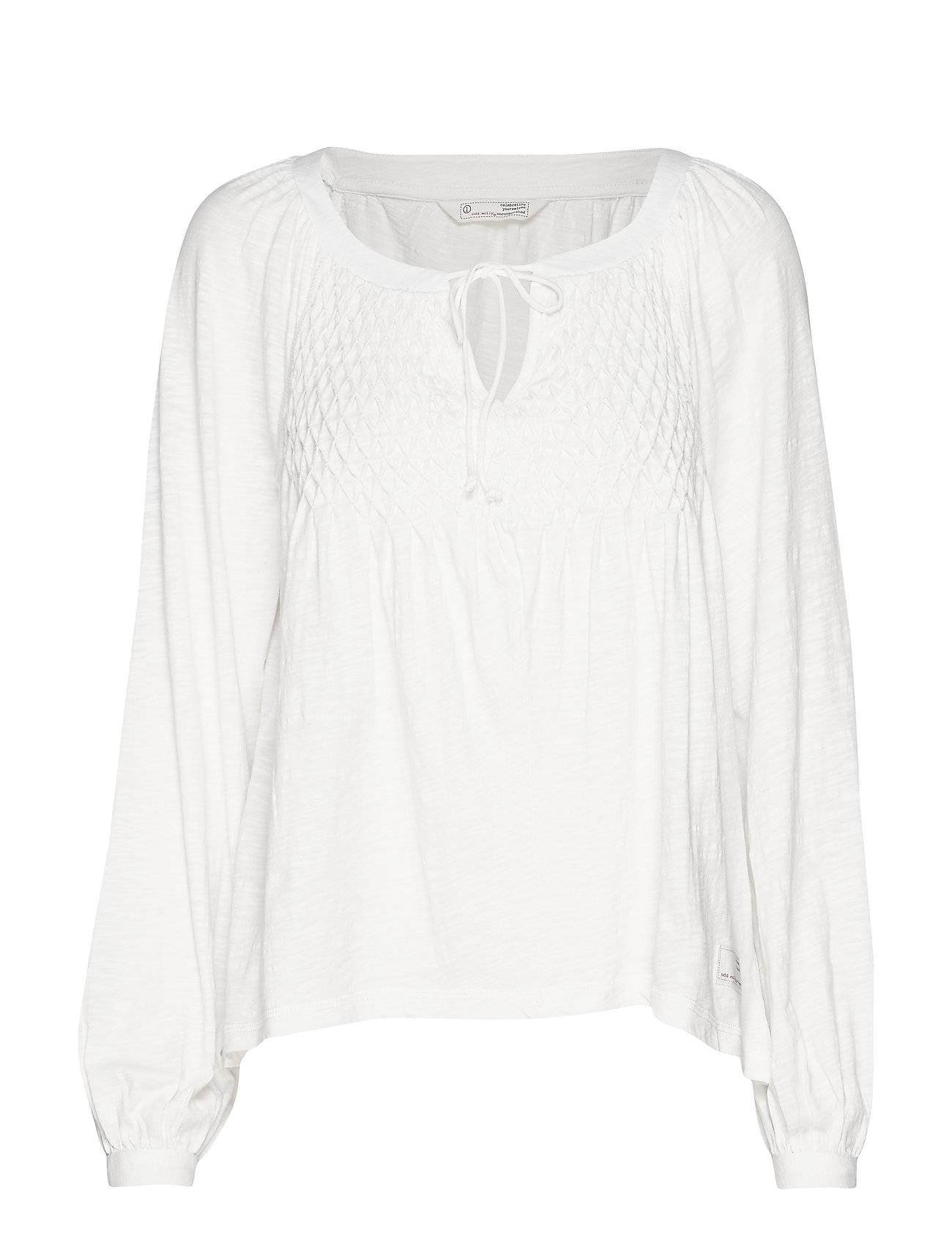 Image of ODD MOLLY I Call It Life Blouse T-shirts & Tops Long-sleeved Valkoinen ODD MOLLY