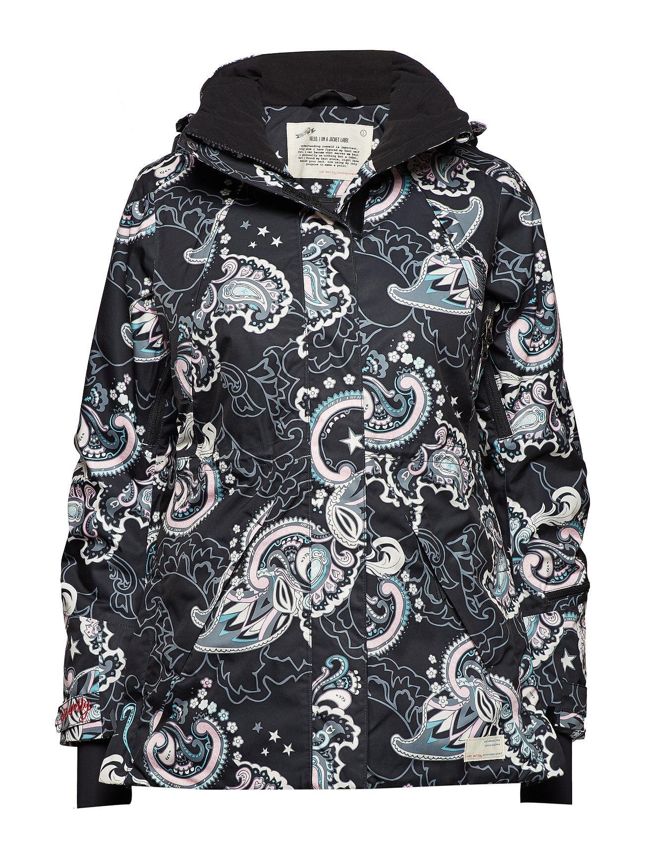 Image of ODD MOLLY ACTIVE WEAR Love-Alanche Jacket Vuorillinen Takki Topattu Takki Sininen ODD MOLLY ACTIVE WEAR