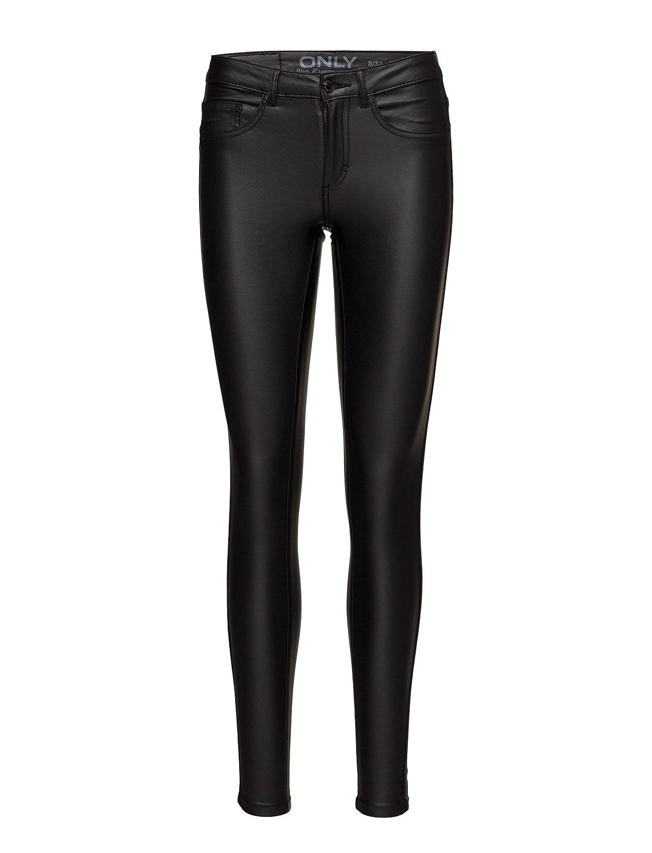 Image of ONLY Onlroyal R Sk Rock Coated Pnt Pim Noos Leather Leggings/Housut Musta ONLY