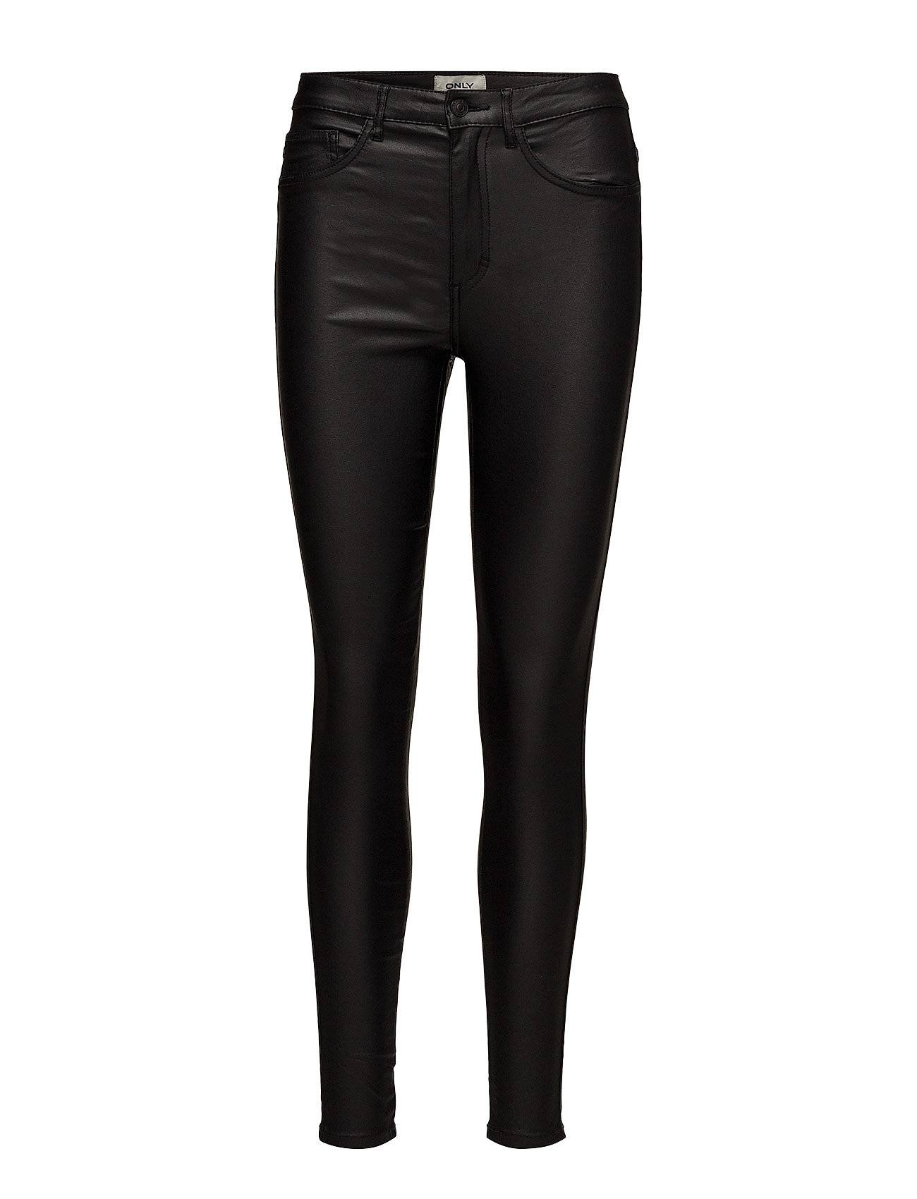 Image of ONLY Onlroyal Hw Sk Rock Coated Pim Noos Leather Leggings/Housut Musta ONLY