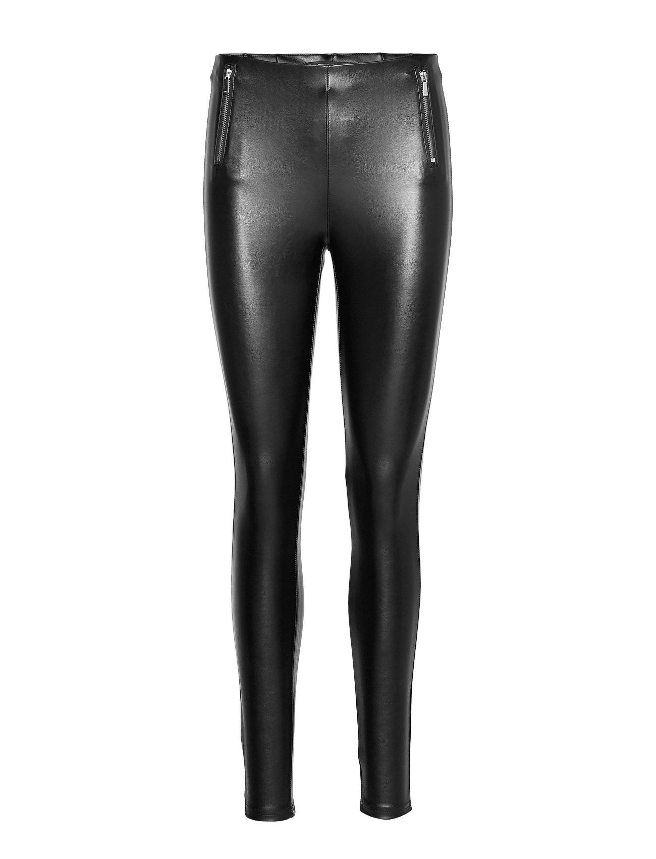 Image of ONLY Onltia Mw Pu Legging Pnt Leather Leggings/Housut Musta ONLY