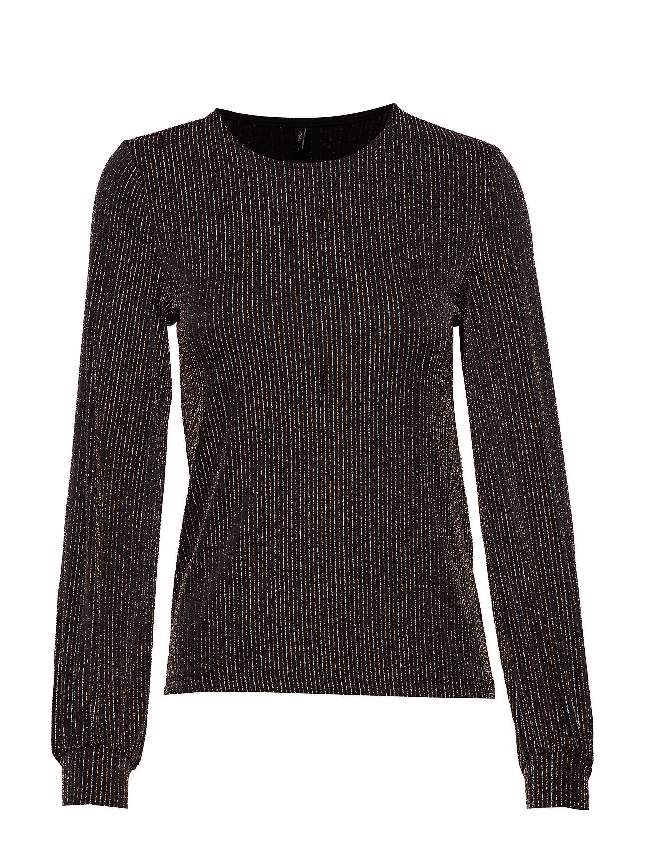 Image of ONLY Onlcarol L/S Glitter O-Neck Top Jrs Neulepaita Musta ONLY