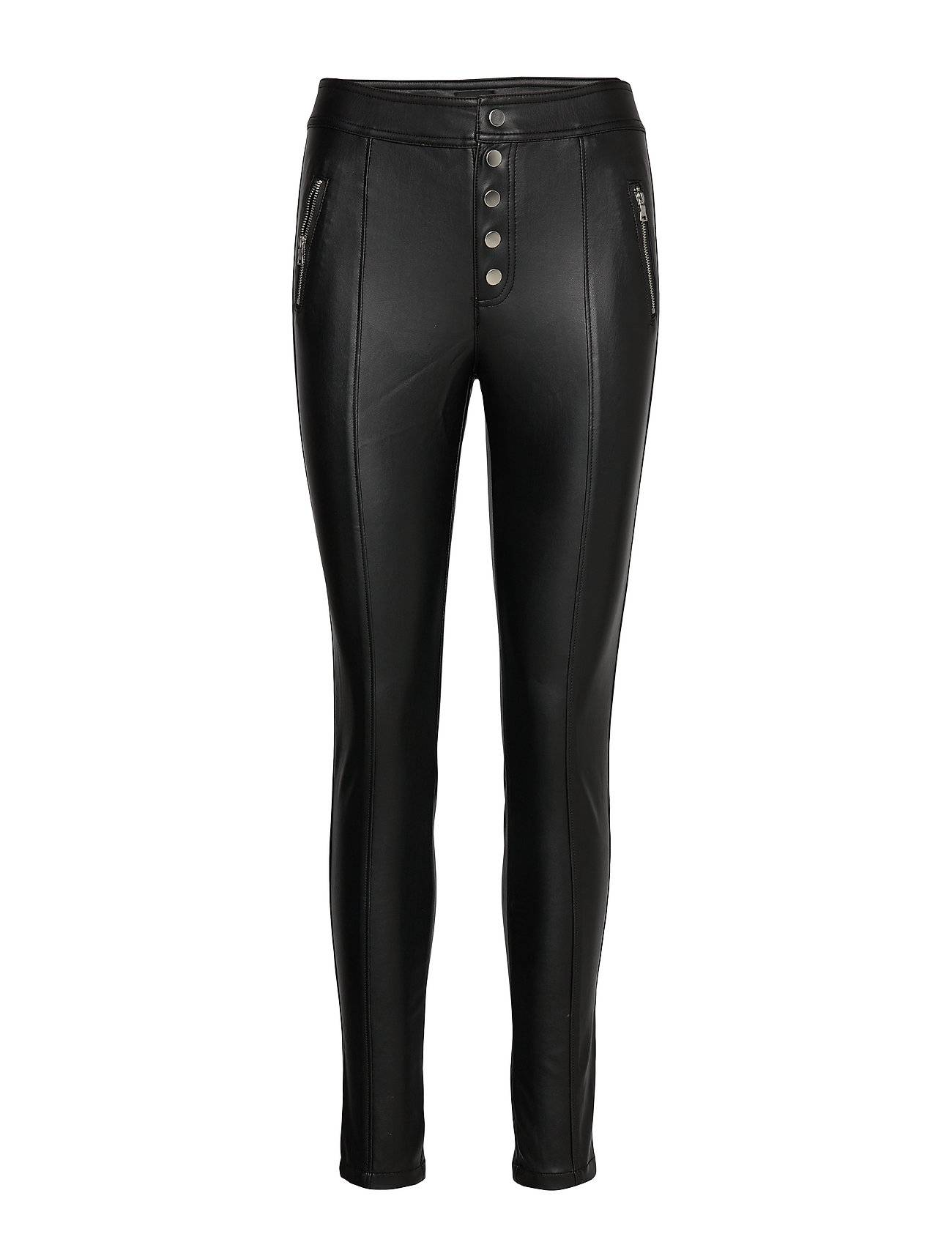 Image of ONLY Onlsigga Button Pu Pant Leather Leggings/Housut Musta ONLY