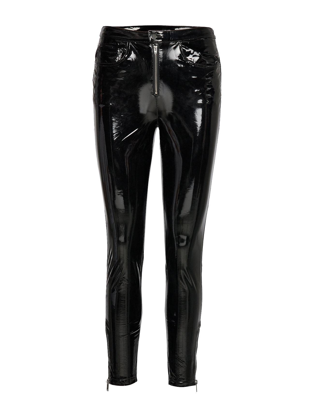 Image of ONLY Onlbea Glazed Faux Leather Pant Otw Leather Leggings/Housut Musta ONLY