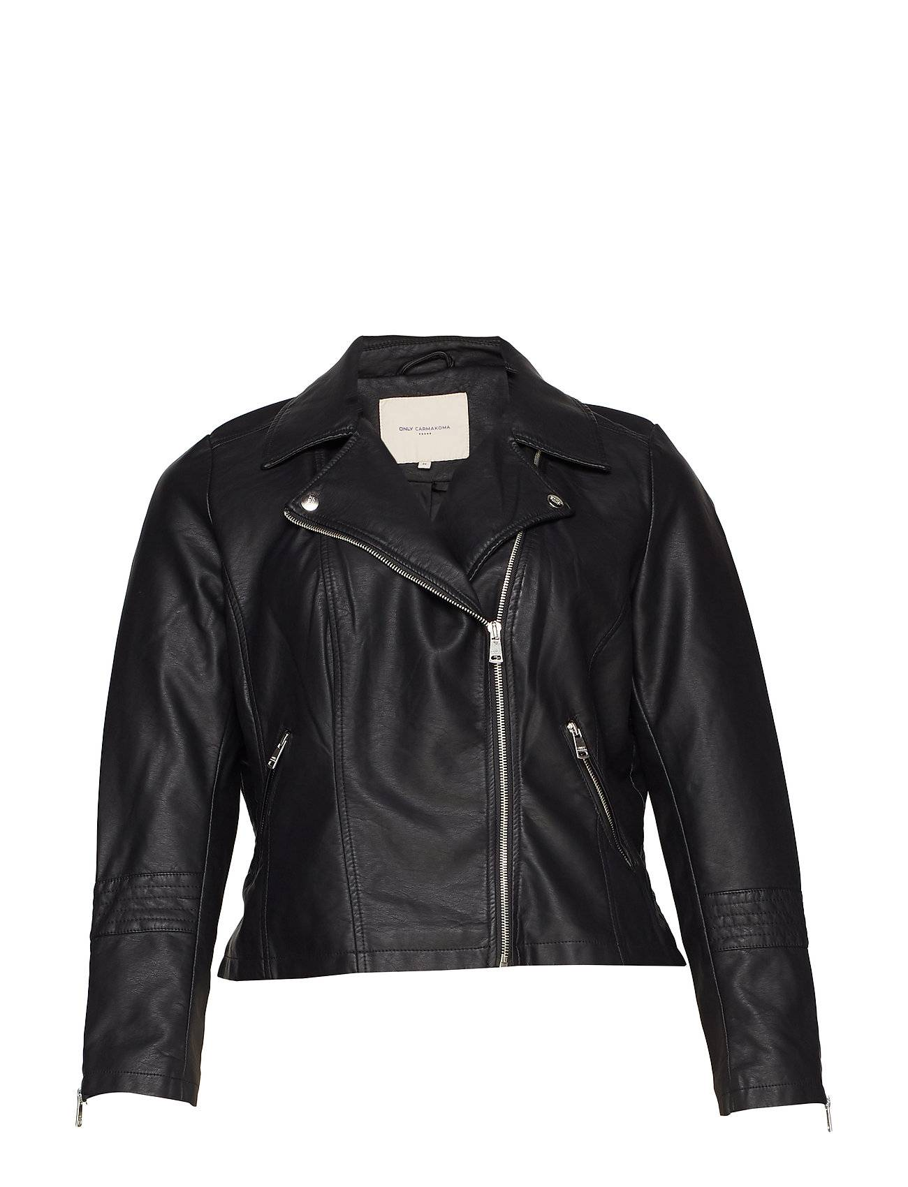ONLY Carmakoma Caremmy Faux Leather Biker Noos Nahkatakki Musta ONLY Carmakoma