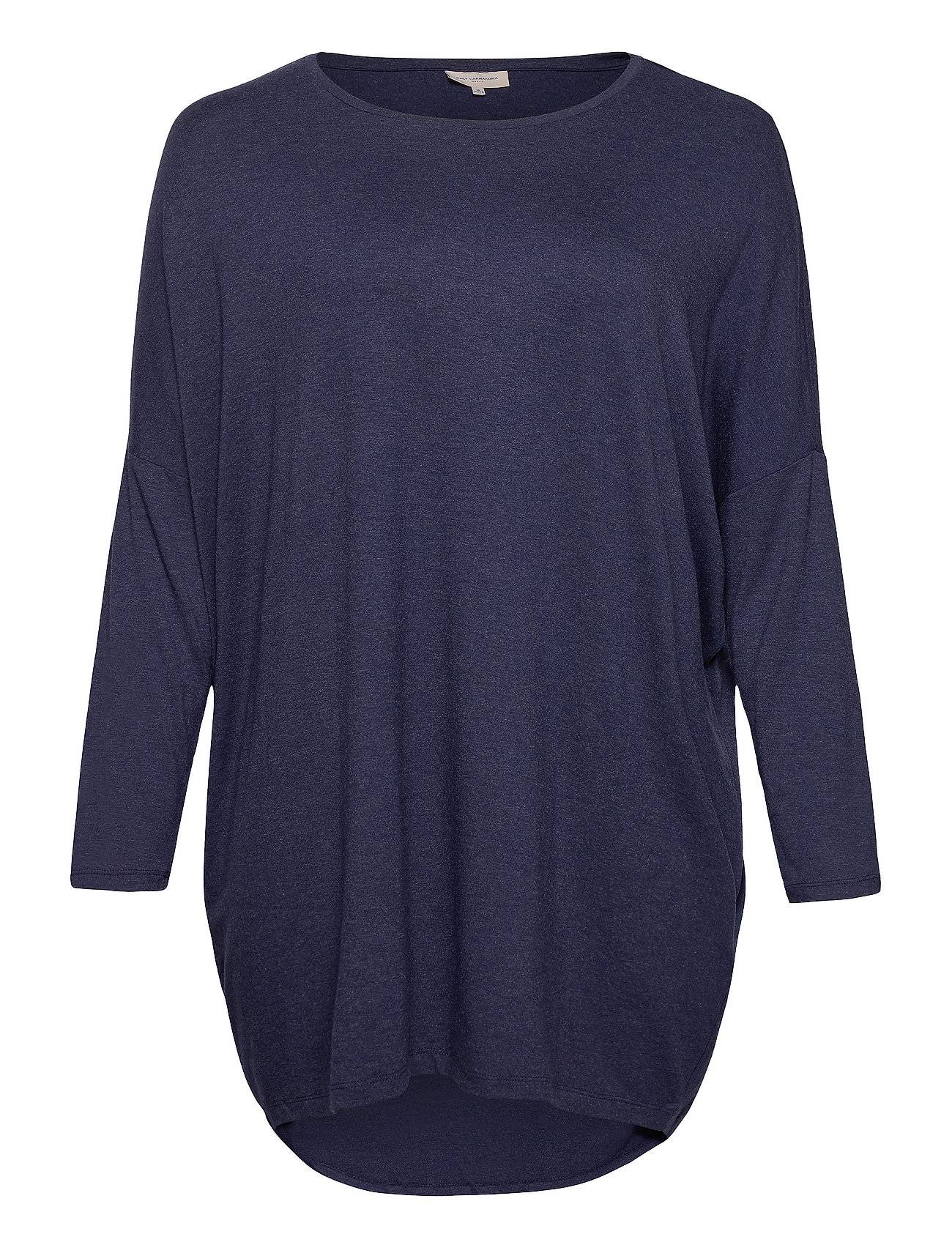 ONLY Carmakoma Carcarma L/S Long Top Noos T-shirts & Tops Long-sleeved Sininen ONLY Carmakoma