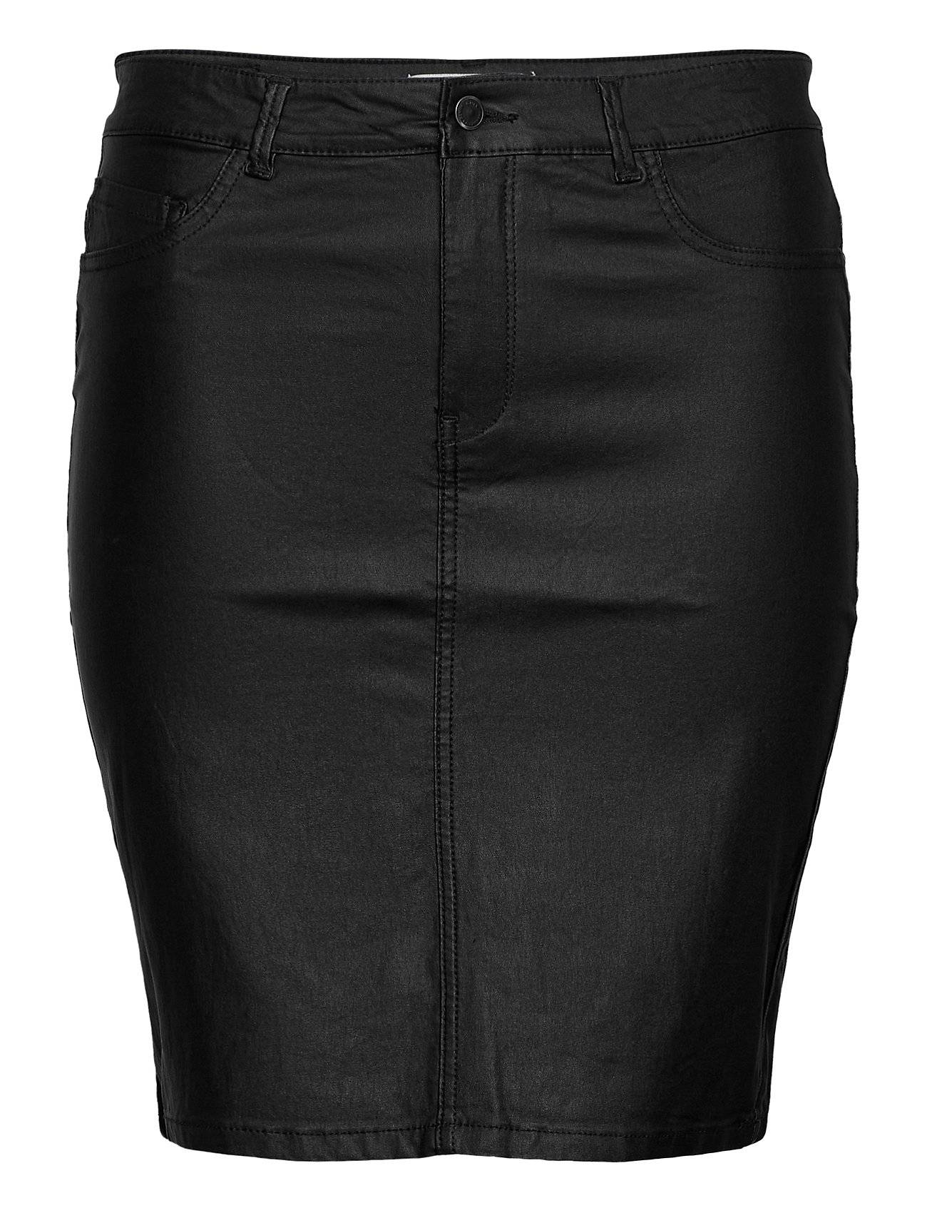 ONLY Carmakoma Caremilia Rock Coated Skirt Lyhyt Hame Musta ONLY Carmakoma