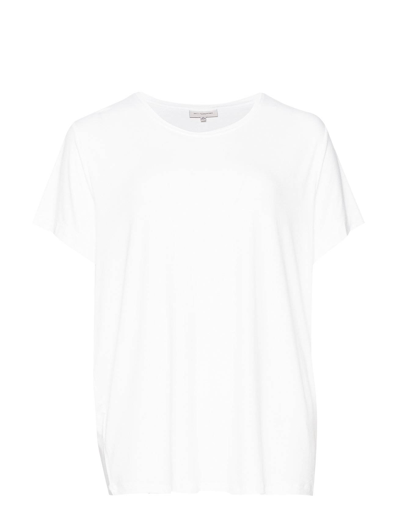 ONLY Carmakoma Carcarmakoma S/S Top Noos T-shirts & Tops Short-sleeved Valkoinen ONLY Carmakoma