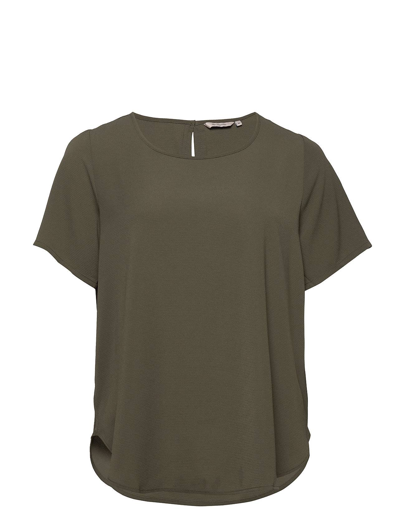 ONLY Carmakoma Carluxmai Ss Top Solid T-shirts & Tops Short-sleeved Vihreä ONLY Carmakoma
