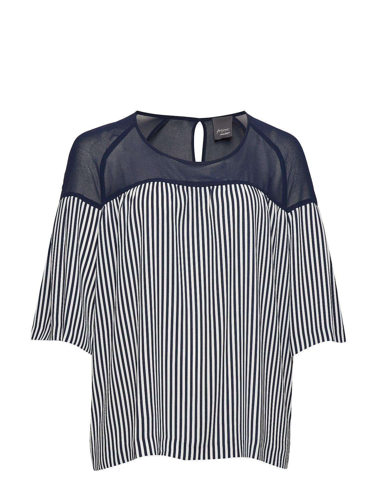 Persona by Marina Rinaldi Belgio Blouses Short-sleeved Sininen Persona By Marina Rinaldi