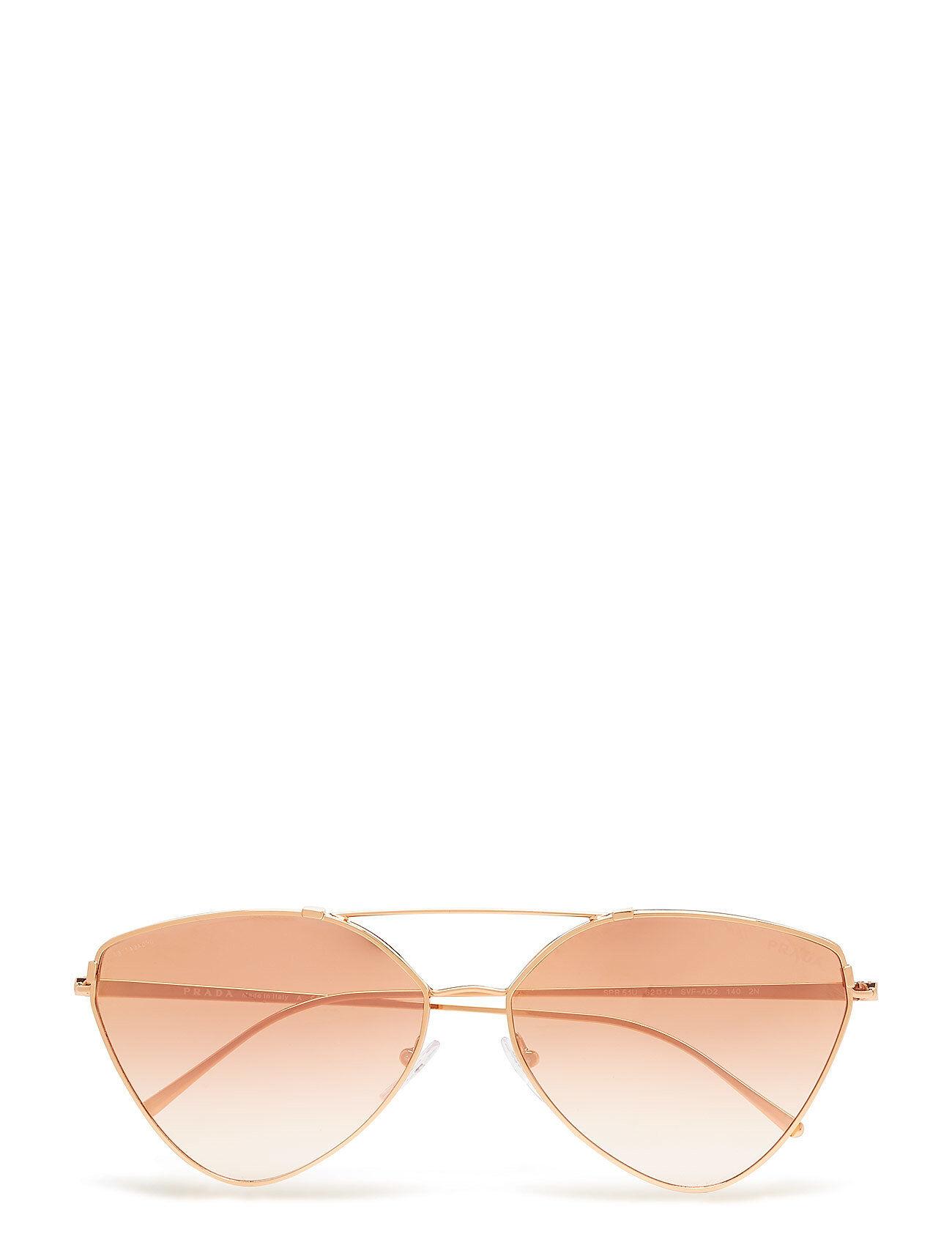 Image of Prada Sunglasses Women'S Sunglasses Neliönmuotoiset Aurinkolasit Kulta Prada Sunglasses