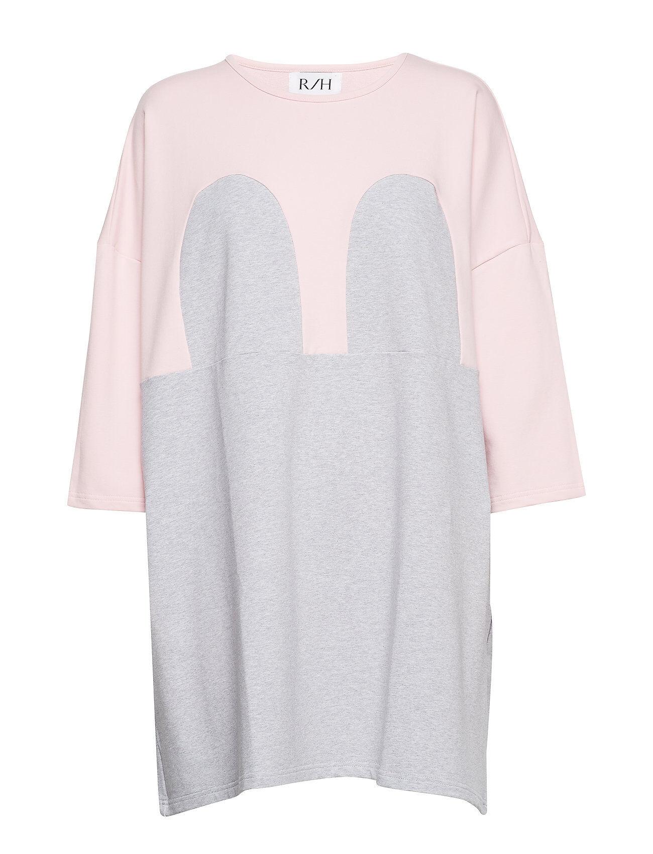 R/H Studio Mickey Square Dress Lyhyt Mekko Vaaleanpunainen R/H Studio