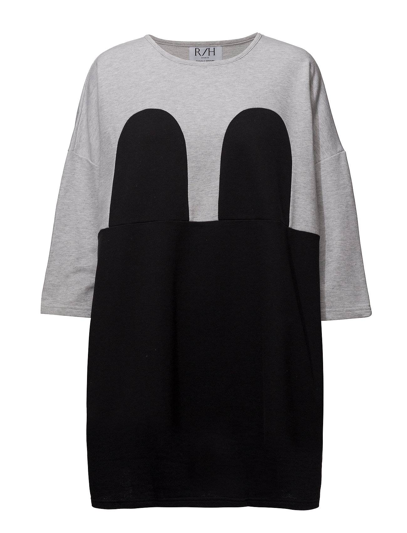 R/H Studio Mickey Square Dress Lyhyt Mekko Harmaa R/H Studio
