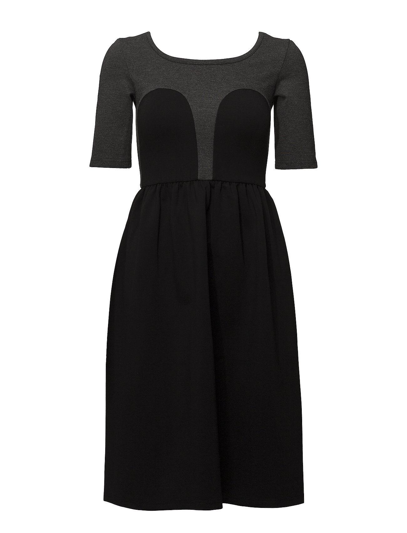 R/H Studio Mickey Tee Dress Polvipituinen Mekko Musta