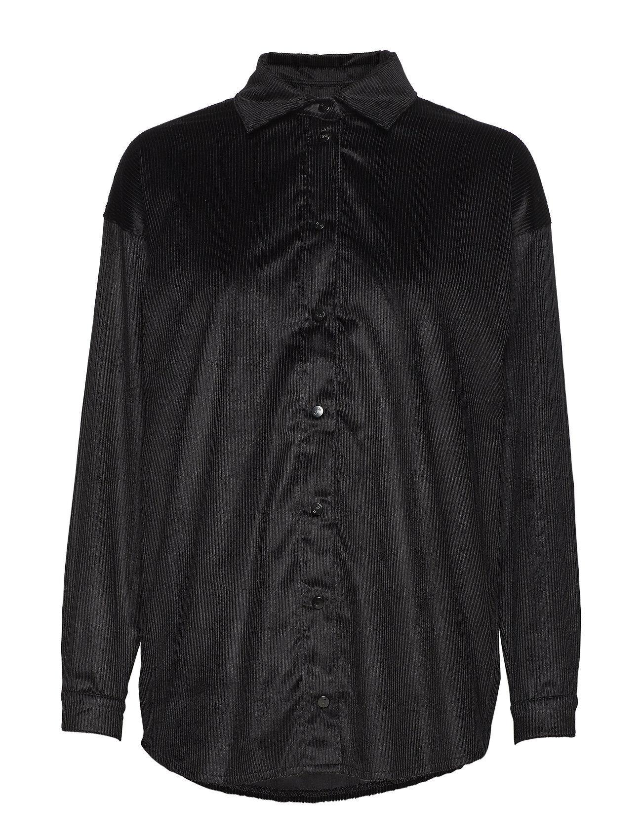 R/H Studio Abi Collar Shirt Pitkähihainen Pusero Paita Musta