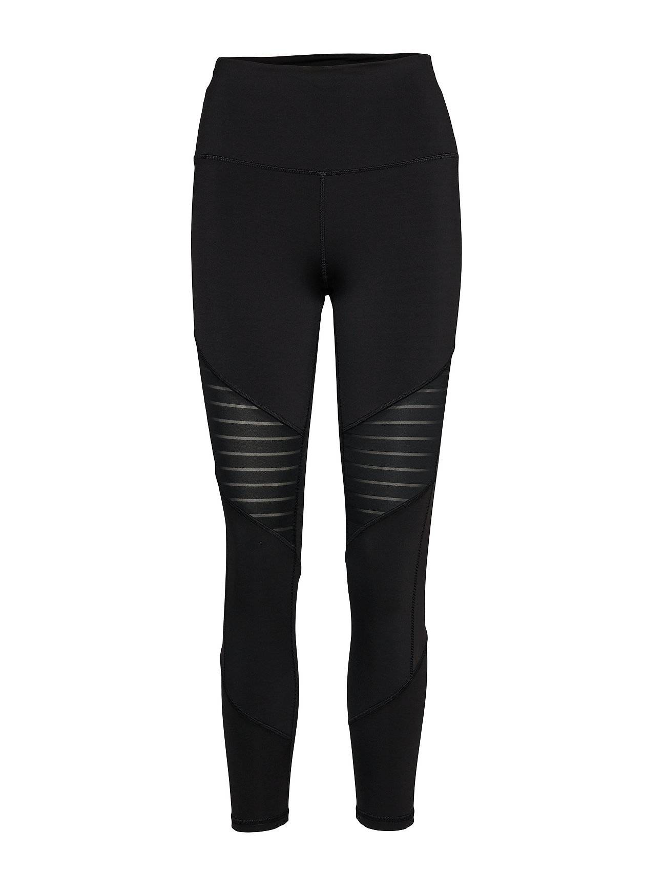 Image of Reebok Performance S Mesh Tight Running/training Tights Musta Reebok Performance