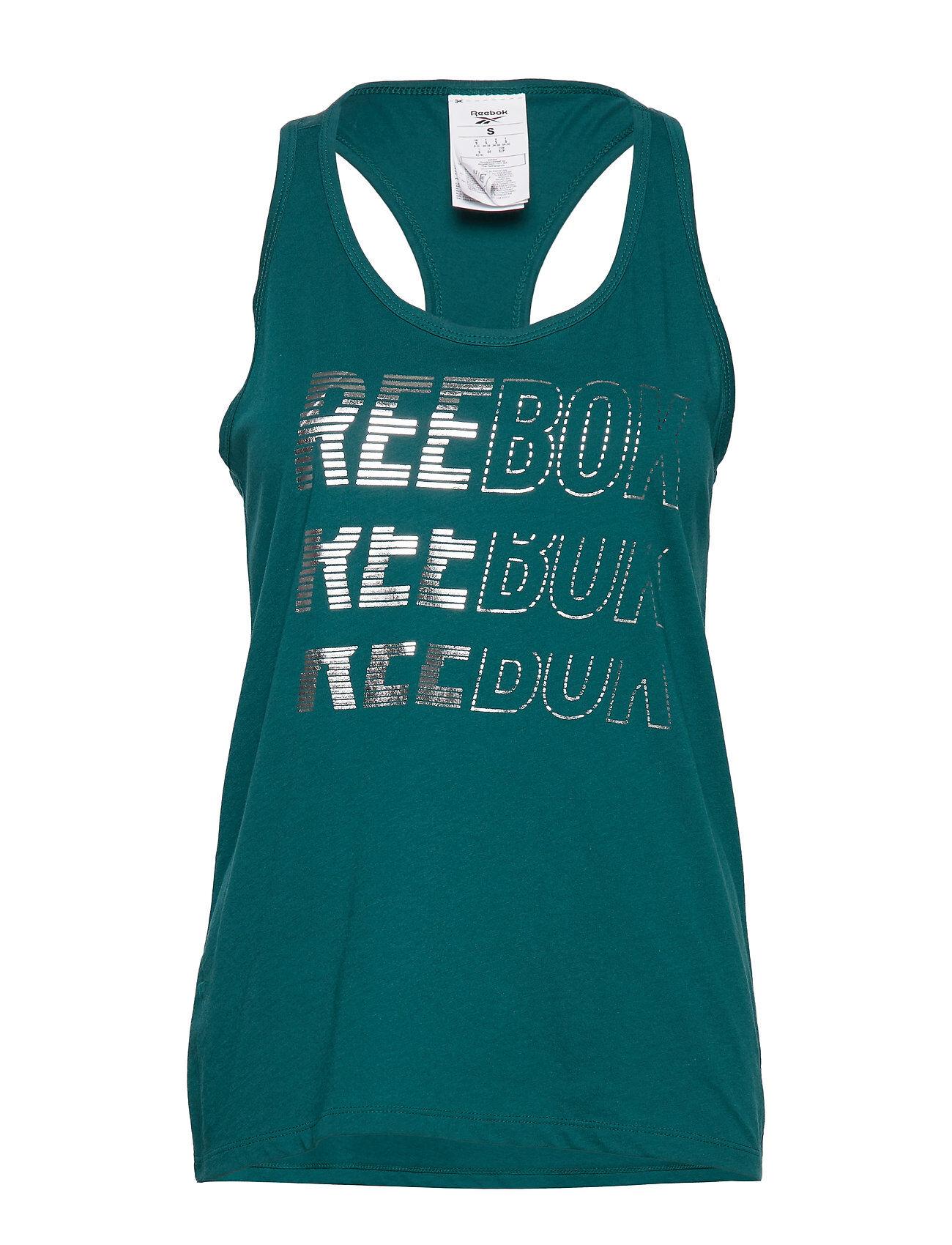 Reebok Performance Sh Graphic Tank T-shirts & Tops Sleeveless Vihreä Reebok Performance