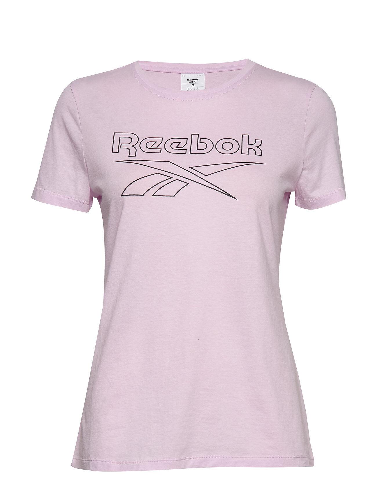 Reebok Performance Te Graphic Tee Delta T-shirts & Tops Short-sleeved Vaaleanpunainen Reebok Performance