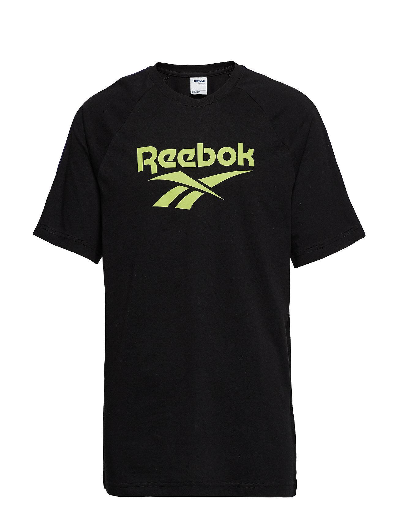 Reebok Classics Cl V P Tee Unisex T-shirts & Tops Short-sleeved Musta Reebok Classics