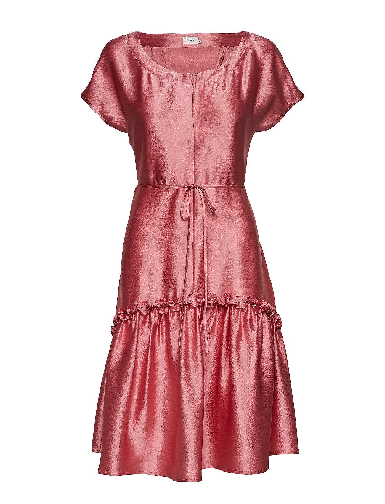 Residus Marilyn Dress Polvipituinen Mekko Vaaleanpunainen Residus
