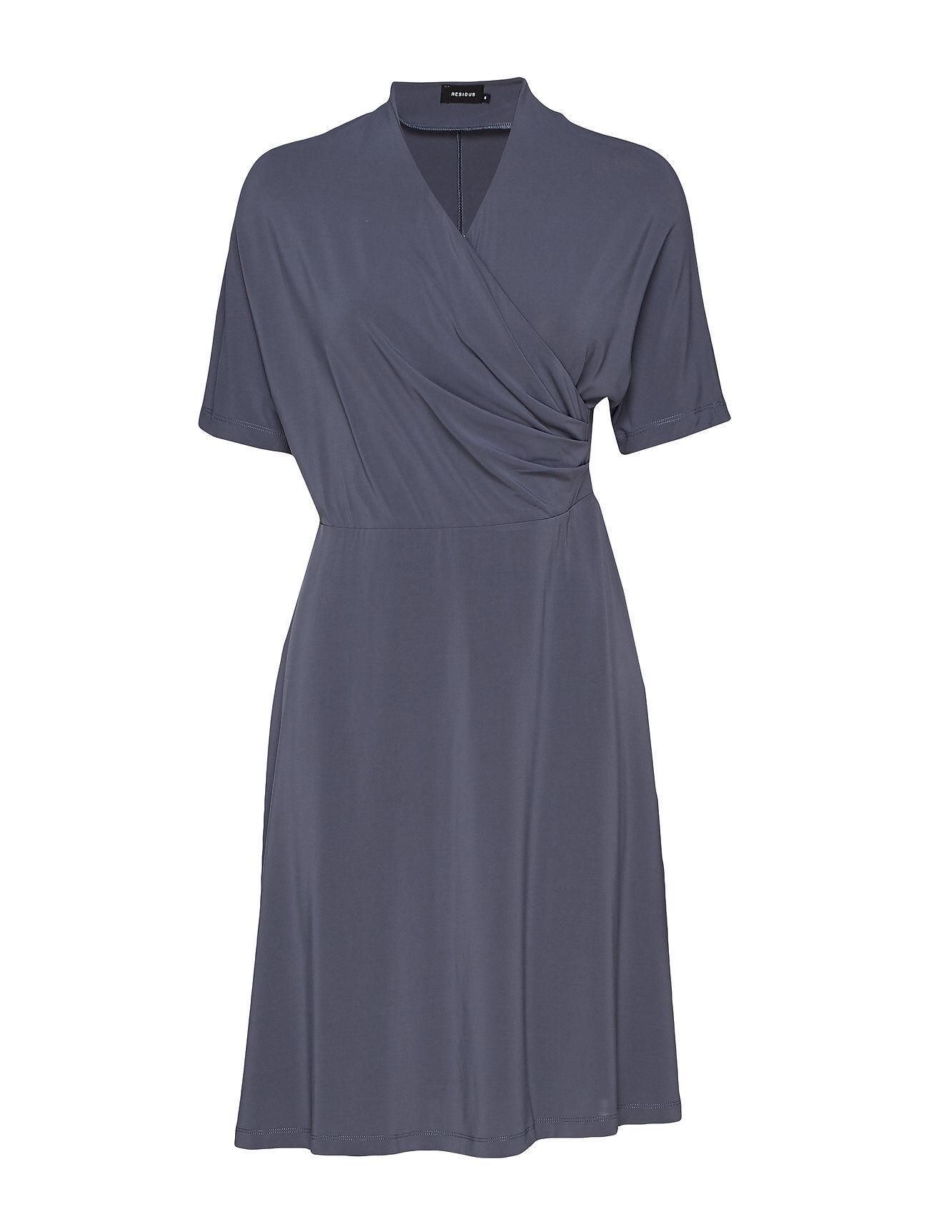 Residus Pomme Dress Polvipituinen Mekko Sininen Residus