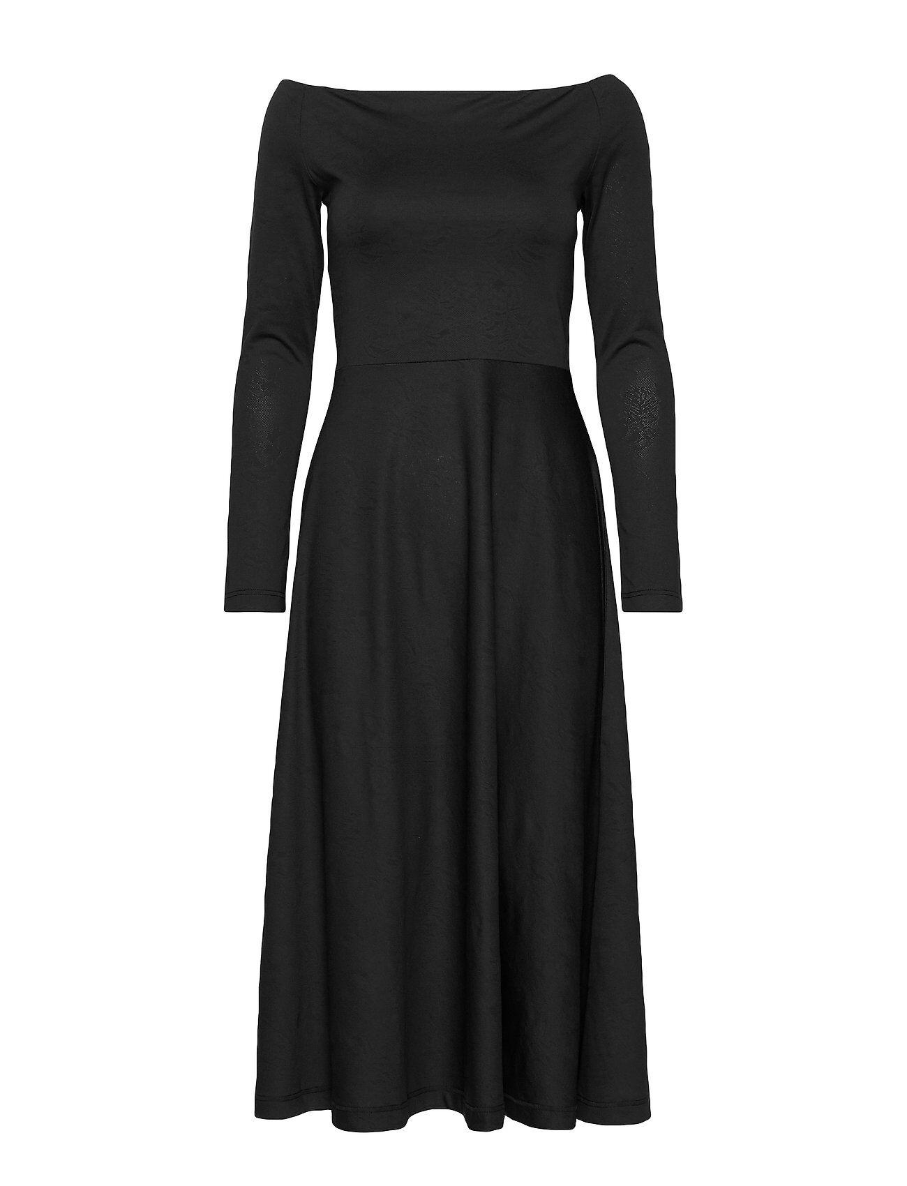 Residus Benedicte Jacq. Dress Polvipituinen Mekko Musta Residus