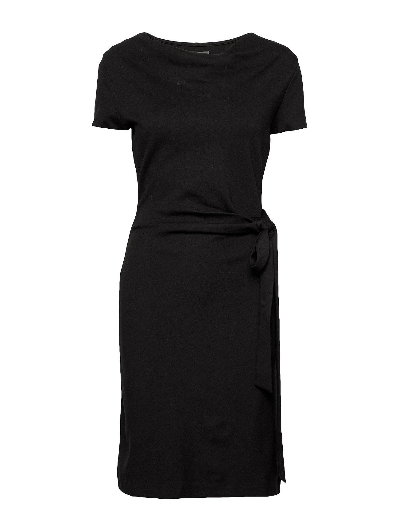 Residus Lily Ecovero Dress Polvipituinen Mekko Musta Residus