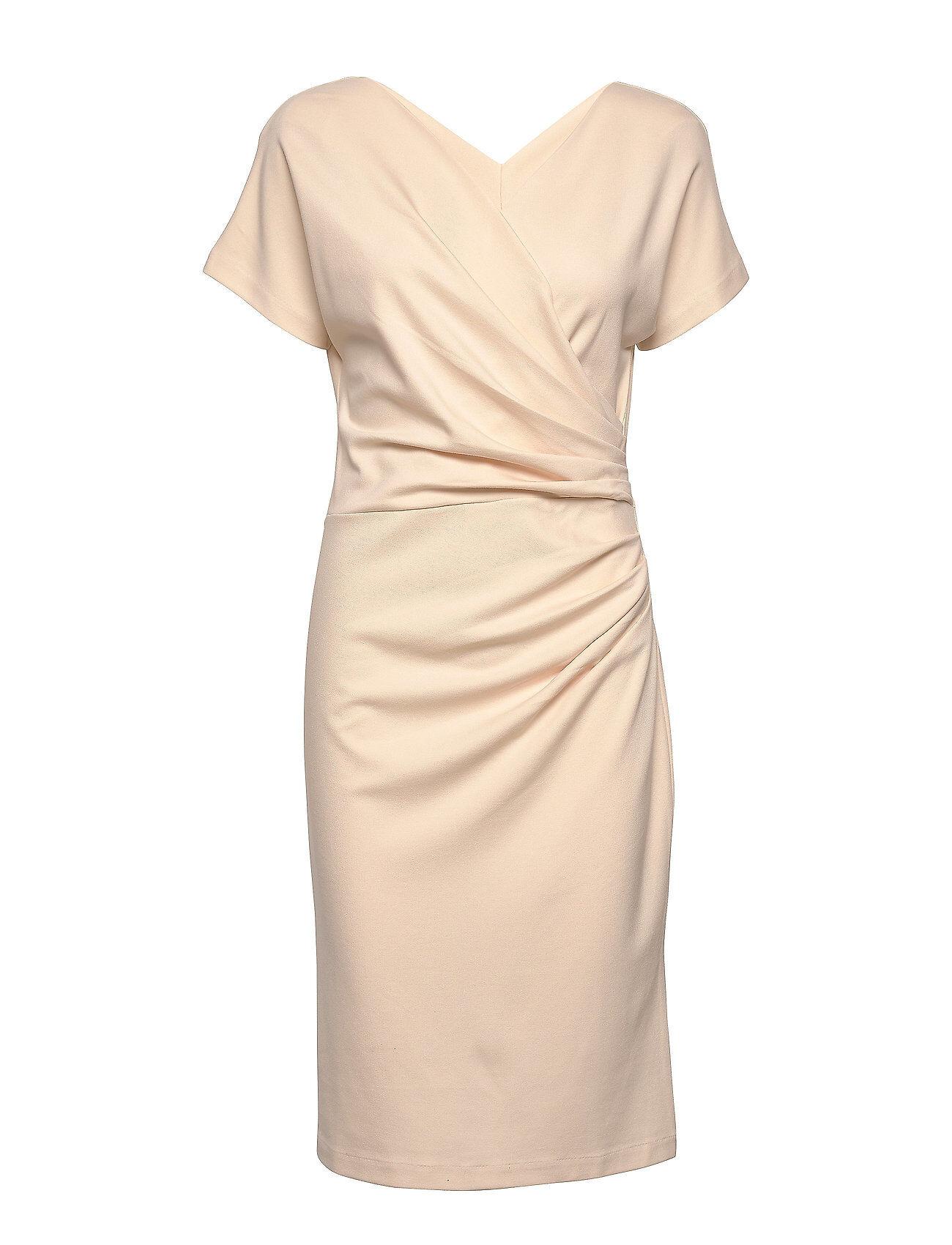 Residus Ava Ecovero Dress Polvipituinen Mekko Beige Residus