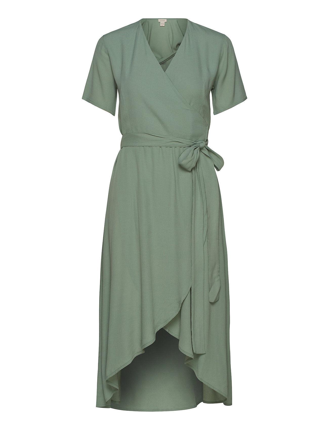 Residus Melanie Wrap Dress Polvipituinen Mekko Vihreä Residus