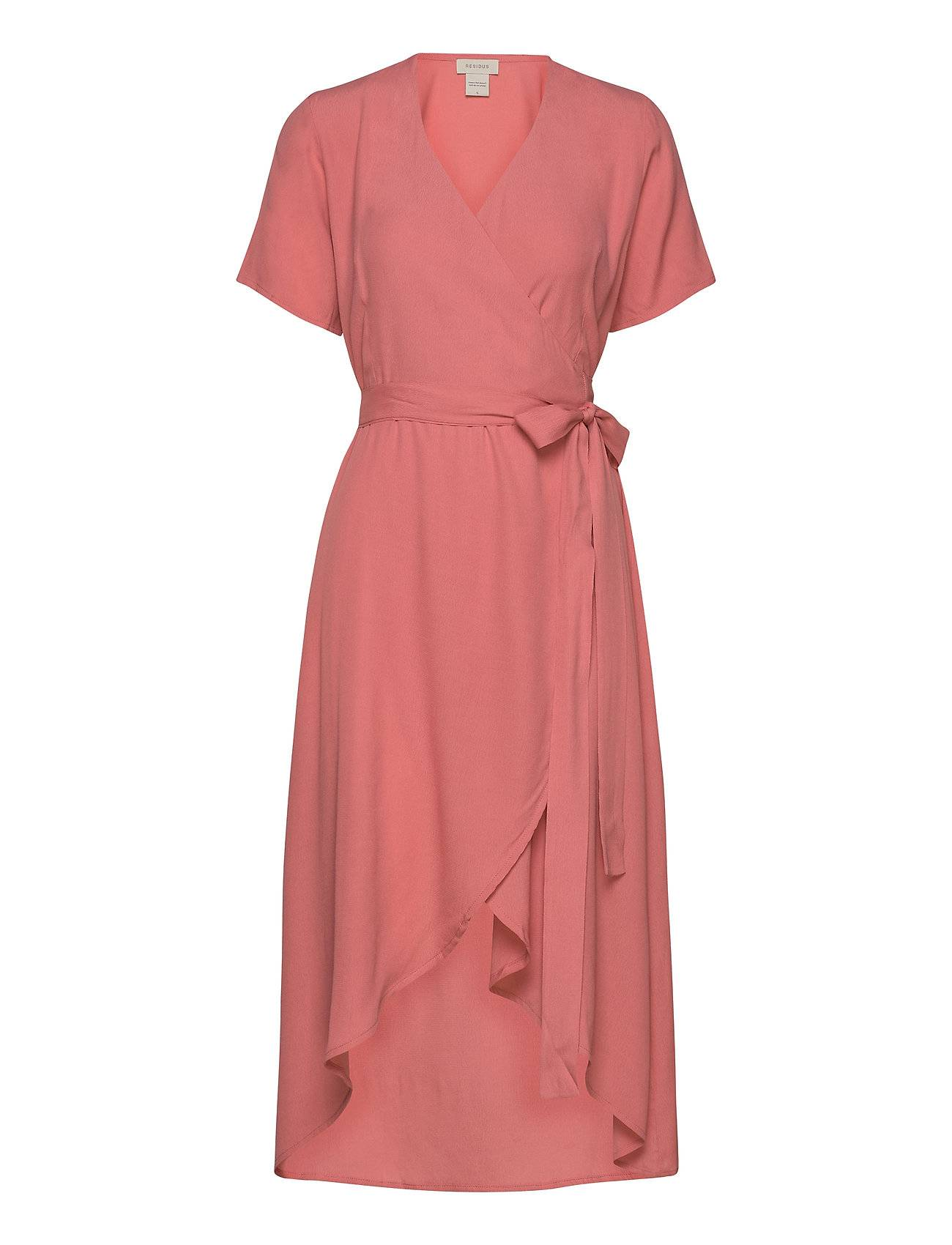 Residus Melanie Wrap Dress Polvipituinen Mekko Vaaleanpunainen Residus