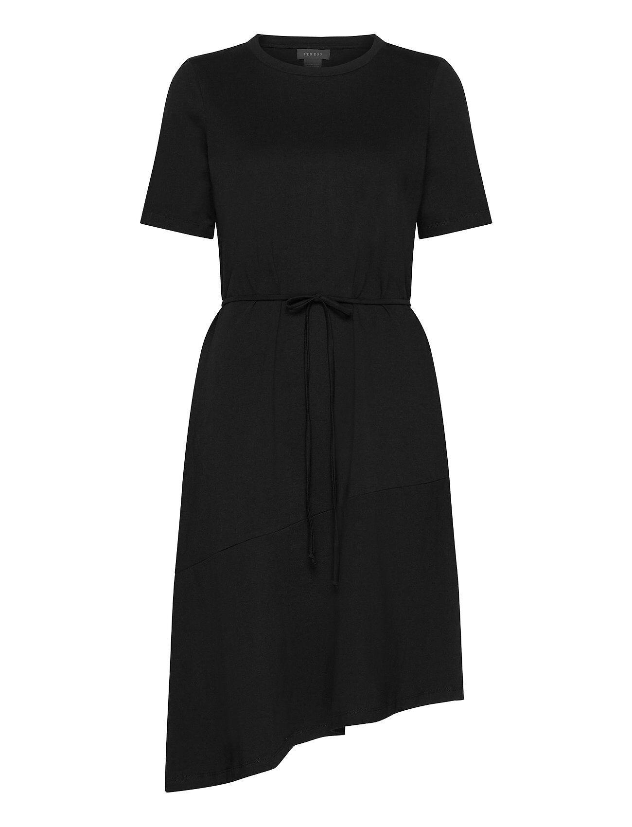 Residus Olivia Organic Cotton Tee Dress Polvipituinen Mekko Musta Residus