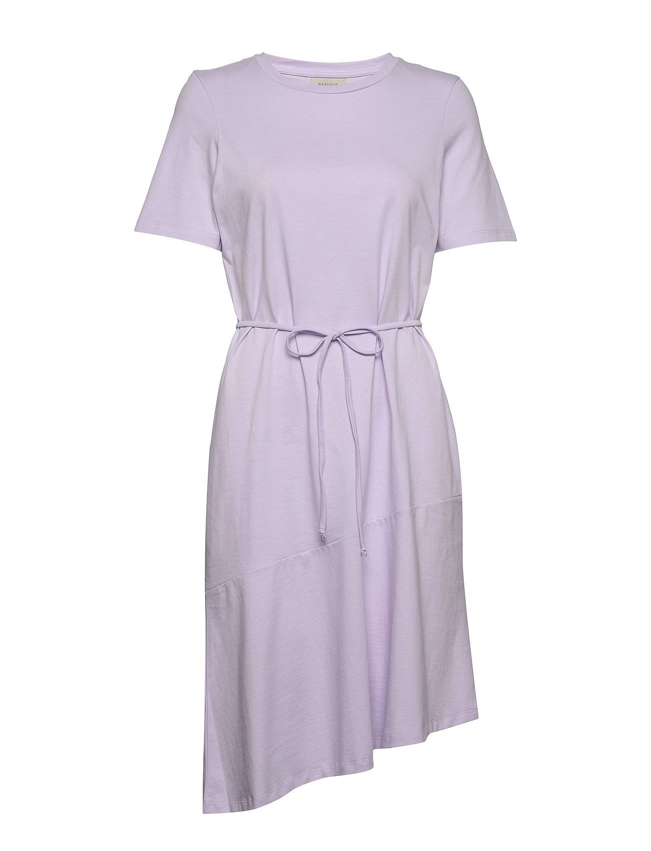 Residus Olivia Organic Cotton Tee Dress Polvipituinen Mekko Liila Residus