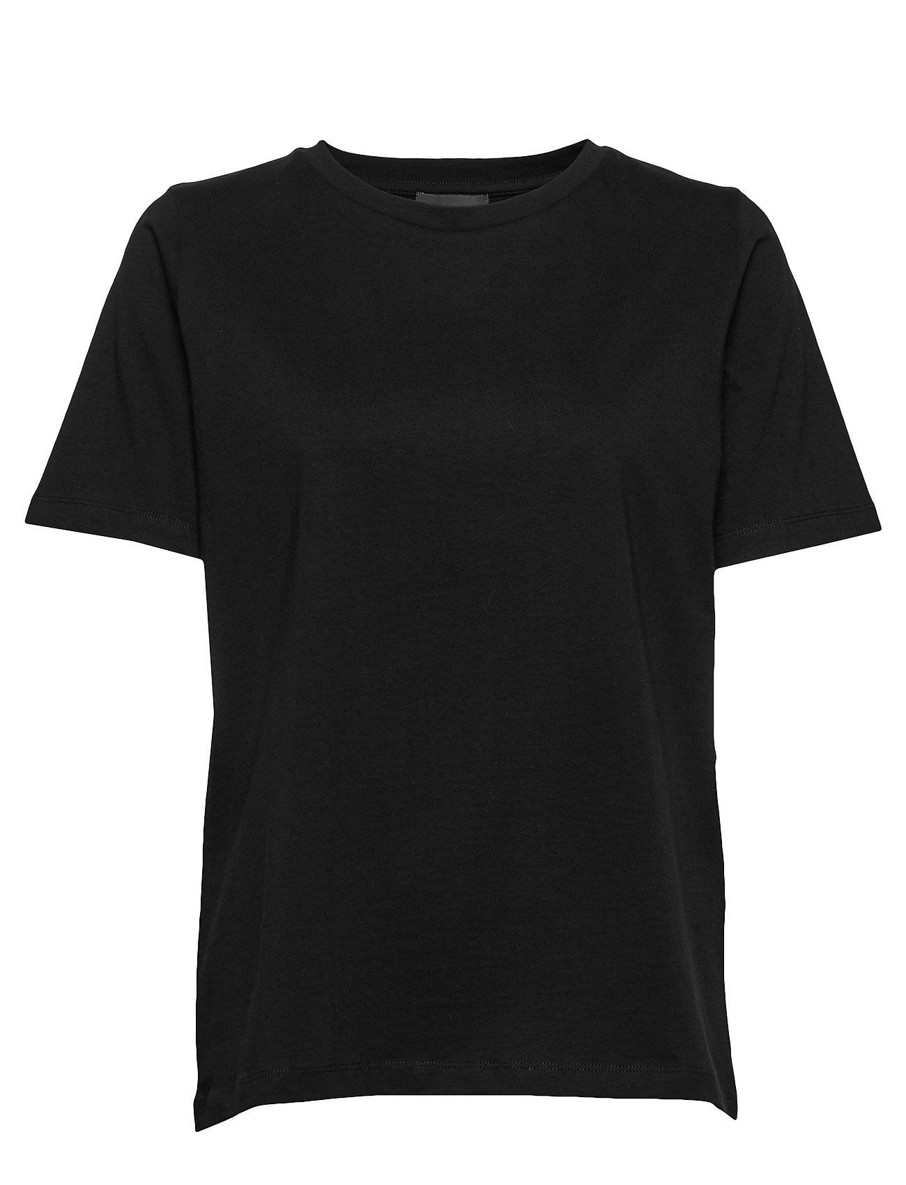 Residus Obi Organic Cotton Tee T-shirts & Tops Short-sleeved Musta Residus