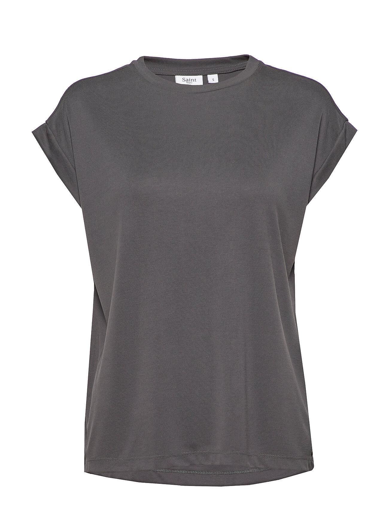 Saint Tropez Giasz Jersey Top T-shirts & Tops Short-sleeved Musta Saint Tropez
