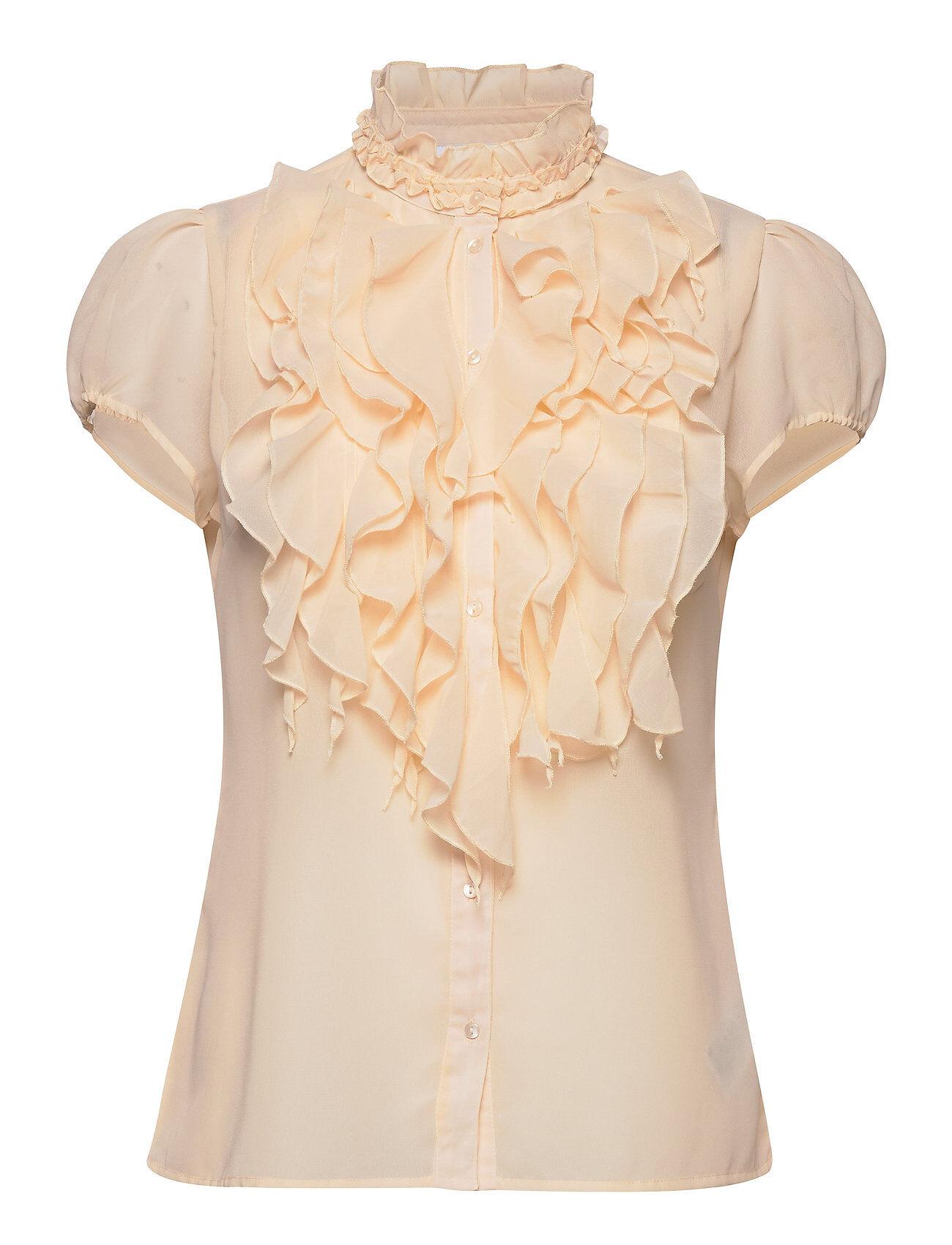 Saint Tropez Lillysz Ss Shirt Blouses Short-sleeved Kermanvärinen Saint Tropez