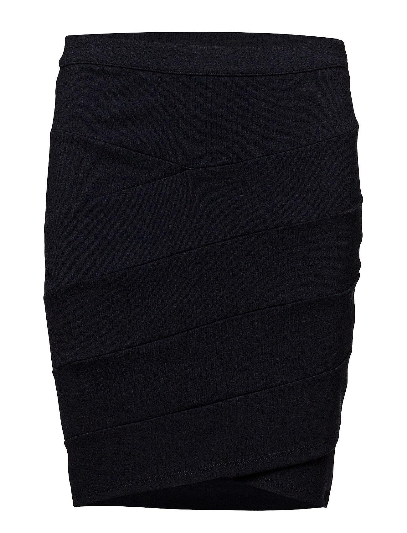 Saint Tropez Jersey Skirt Cut Lines Polvipituinen Hame Sininen Saint Tropez