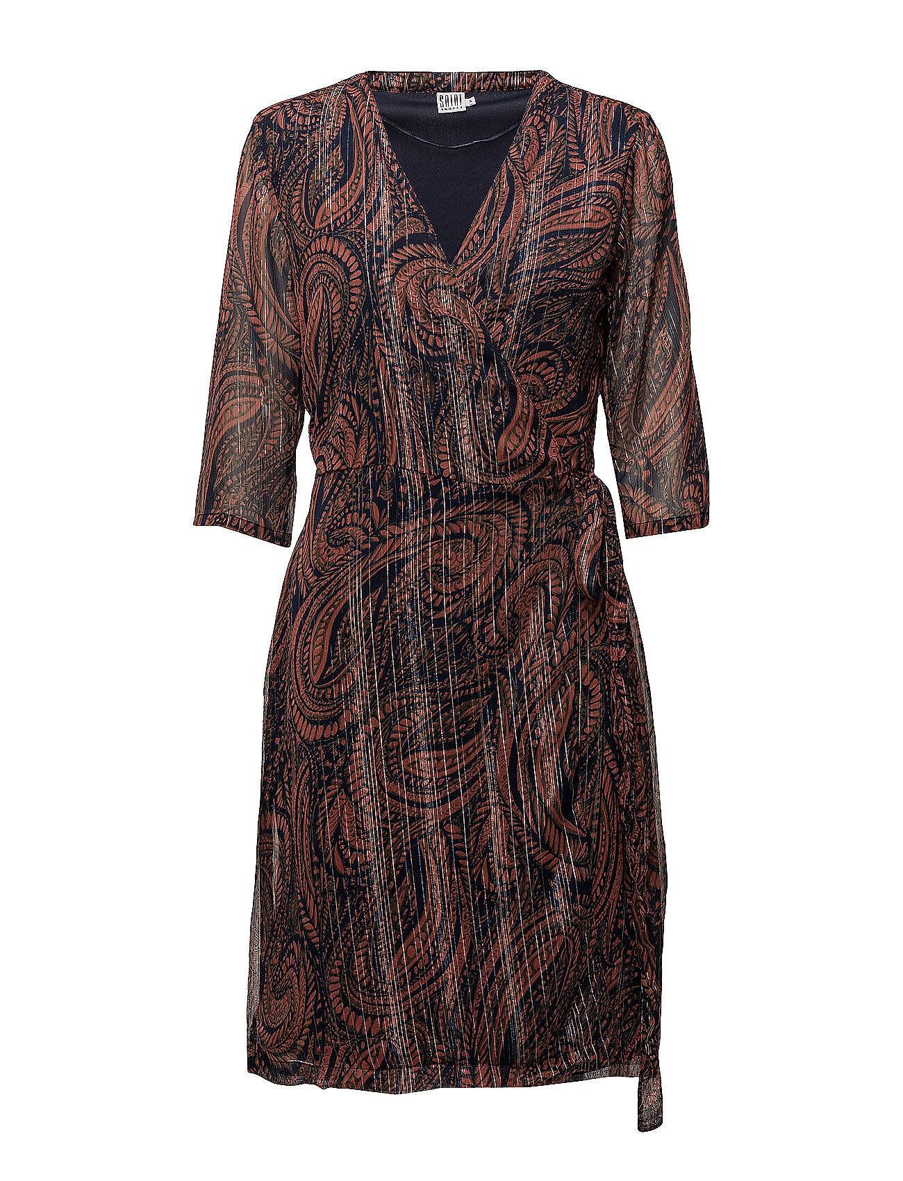 Saint Tropez Paisley Print Wrap Dress Lyhyt Mekko Ruskea Saint Tropez