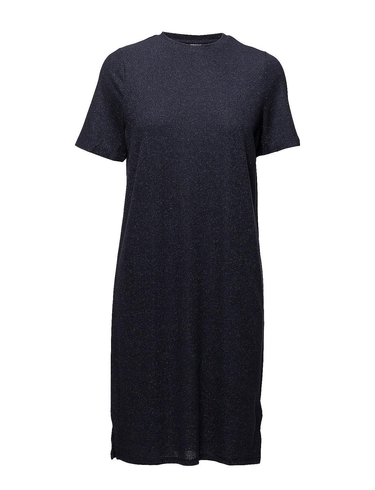 Saint Tropez Shimmer Knit Dress W. Slits Lyhyt Mekko Sininen Saint Tropez