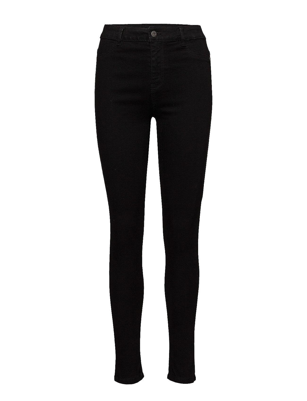 Saint Tropez Stretchy Highwaist Jeans Skinny Farkut Musta Saint Tropez